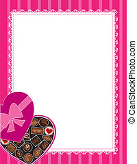 Chocolates Background - A box of chocolates at the lower...