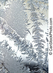 Abstract Ice Crystals - Assortment of ice crystals...