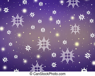 Falling Stars - Image of snow falling.
