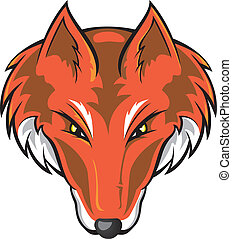 Fox Head - Vector illustration of a fox head