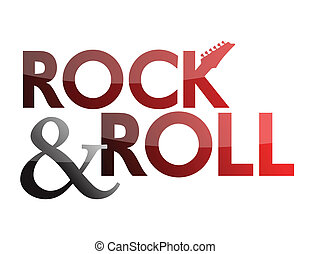 rock and roll guitar sign