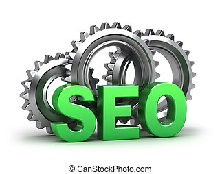 SEO - Search Engine Optimization. Isolated on white