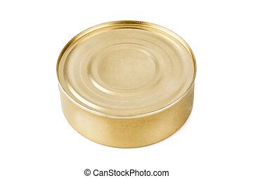 Closed food tin can
