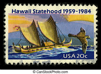 Postage stamp - USA - CIRCA 1984: A stamp printed in USA...