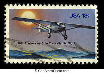 Postage stamp. - USA - CIRCA 1980: A stamp printed in USA...