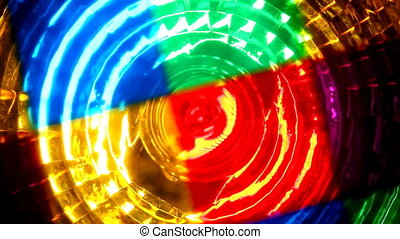abstract colors lights turning