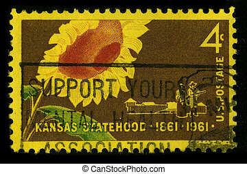 Postage stamp. - USA - CIRCA 1961: A stamp printed in USA...
