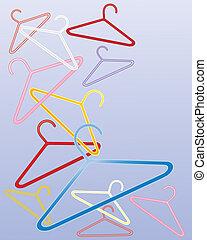 colored coat hangers