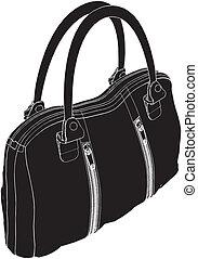Woman's Bag Vector