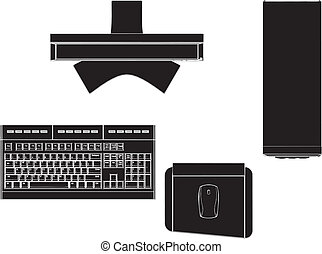 Desktop PC Vector