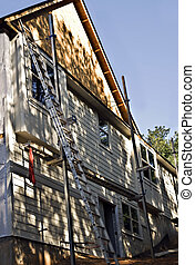 Home Construction Siding - A new home under construction...