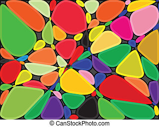 colored stones background, abstract vector art illustration
