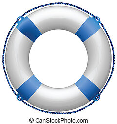life buoy blue against white background, abstract vector art...