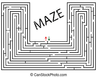 maze against white