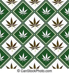 cannabis seamless texture, abstract pattern; vector art...