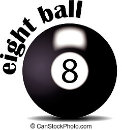 eight ball - illustration of eight ball for logo