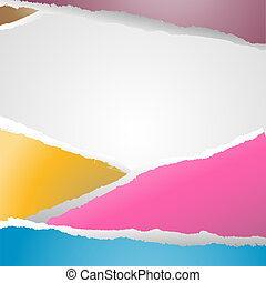 ripped paper - abstract background whit ripped paper, vector...