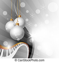 Christmas background - Magic Christmas and Music Background,...