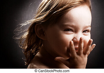 Giggling little girl - A gorgeous little girl giggling...