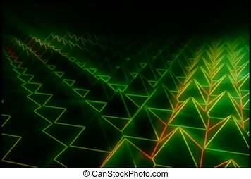 A Field Of Green Pyramids