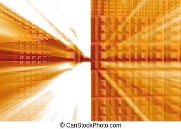 Orange Squares in Motion