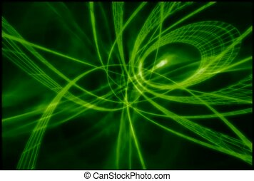 Neon Green Spinning Circles