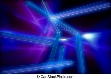 Blue and Purple Lines
