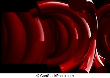 Curved Red Tubes