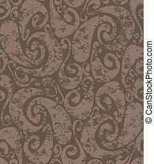 Seamless rusty swirls pattern