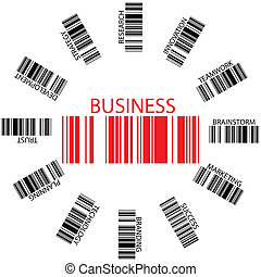 business bar codes against white background, abstract vector...