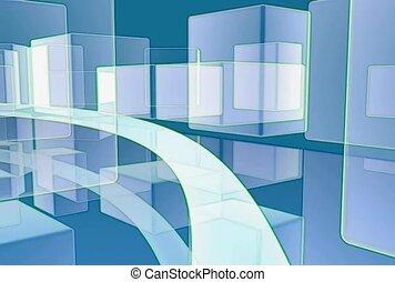 Path Through Cubes