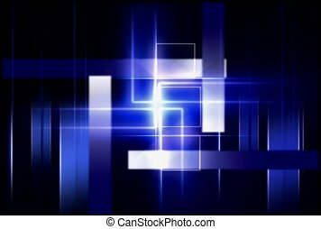 White Columns on a Blue Geometric Background