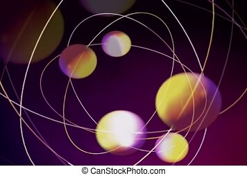 Colorful Balls on Intertwined Wire Circles
