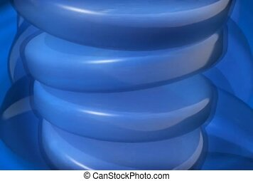 Wobbling Blue Disks