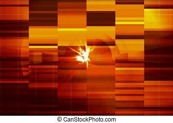 Gold Static in Orange Stripes.