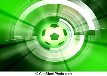 Soccer Ball In Green