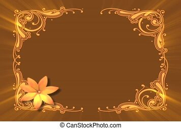 Gilded Frame with Flower