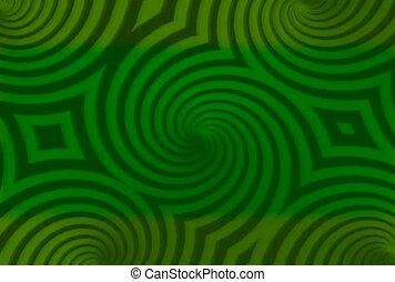 Kaleidoscope in Green