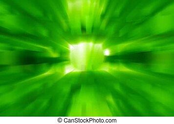 Green Box with Beams