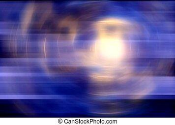 Light in a Purple Blue Swirl