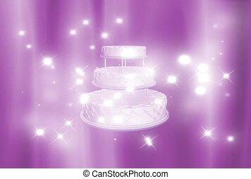 Wedding Cake in Glitter