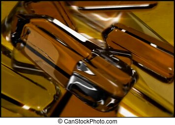 Gold Brown Bars In Motion