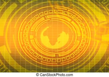 Earth in Golden Circles