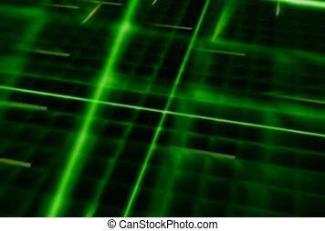 Green Racing Lights in Grid Pattern