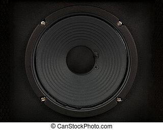 Amplifier Speaker - A modern black amplifier audio speaker...