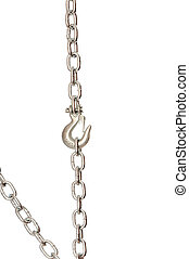 chain with a hook - hook on the chain suspended on a chain