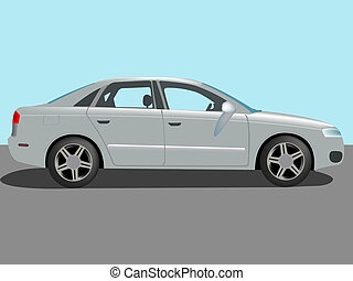 automobile vector - automobile cartoon, abstract vector art...