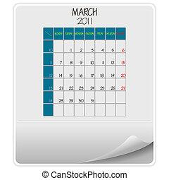 2011 calendar march