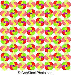 círculos, patrón, Extracto,  seamless