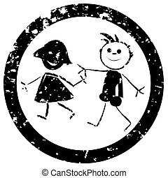 Beautiful kids stamp